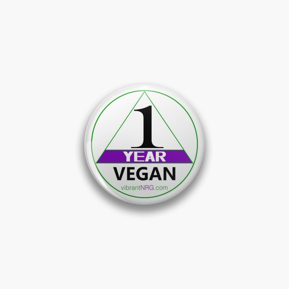 1 Year VEGAN Pin