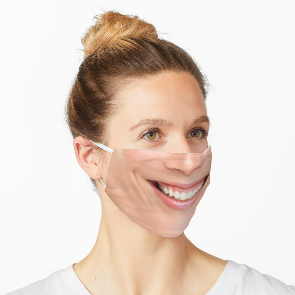 Happy perfect smile woman Mask