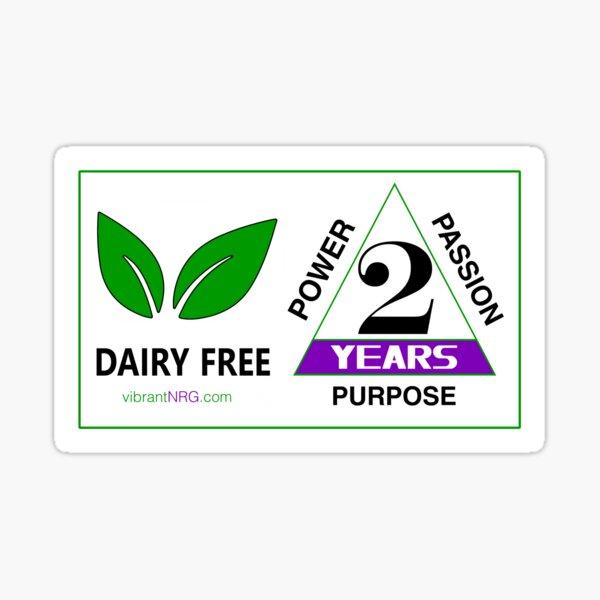 2 Years DAIRY FREE Sticker