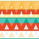 Vibrant textured triangles stripes pattern by oksancia