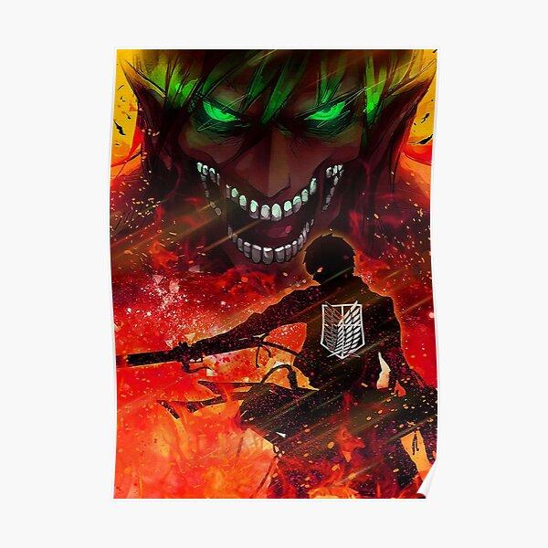 attack on titan design Poster