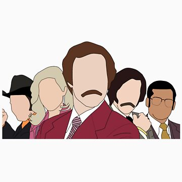 Anchorman faceless by jordanturnip