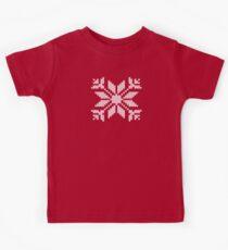 Knitted Snowflake Kids Tee