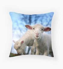 Trouble and Greedy Throw Pillow