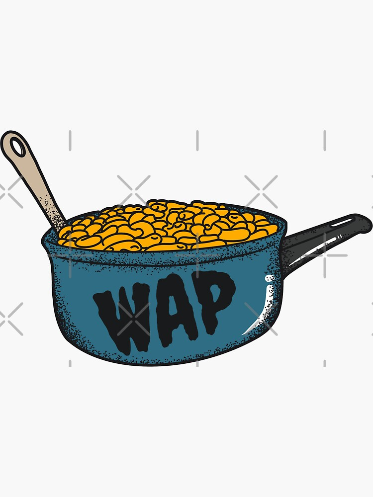 Macaroni In A Pot WAP Sticker by paintedlife
