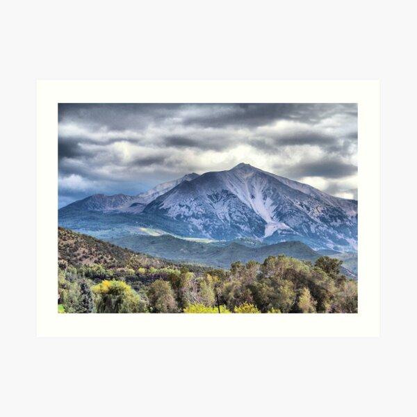 Mt. Sopris Carbondale Colorado Art Print