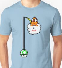 Fishing Lakitu (Black Lines) Unisex T-Shirt