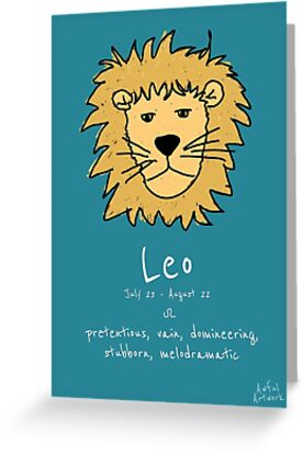 Star signs leo greeting cards by awful artwork redbubble star signs leo by awful artwork m4hsunfo