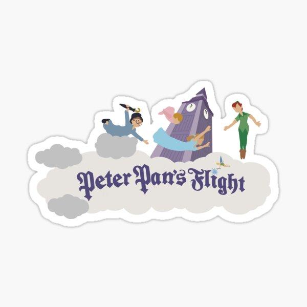 Paseo de vuelo de Peter Pan Pegatina