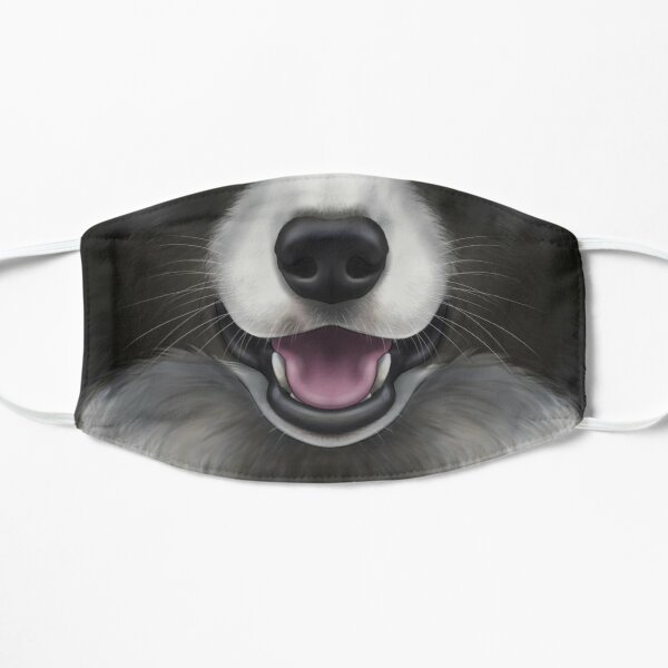 Border Collie Face Flat Mask