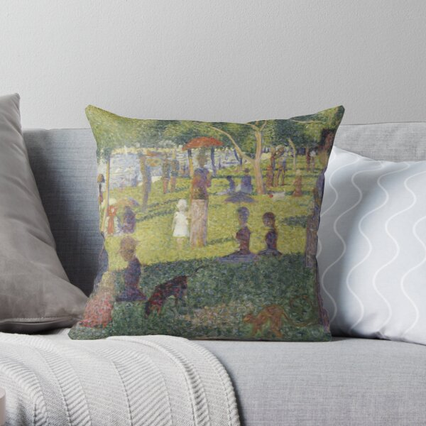 A Sunday Afternoon on the Island of La Grande Jatte Throw Pillow
