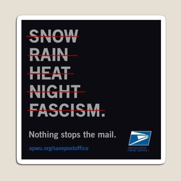 NOTHING CAN STOP US POSTAL SERVICE Magnet