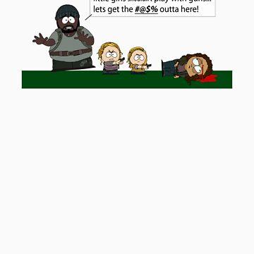 Walking Dead into South Park by PoetElise