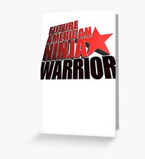 FUTURE American Ninja Warrior Greeting Card