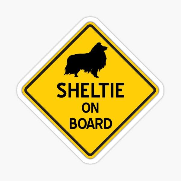 Sheltie on Board Sticker
