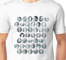A Timeline of Philosophical Faces Unisex T-Shirt