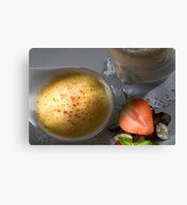 Iced vanilla soufflé with caramelised Whiskey cream Canvas Print