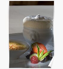 Iced vanilla soufflé with caramelised Whiskey cream h Poster
