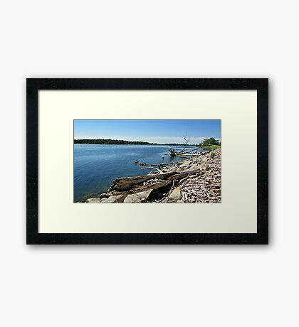 Shores of Kettle Lake Framed Print