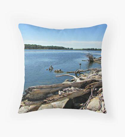 Shores of Kettle Lake Throw Pillow