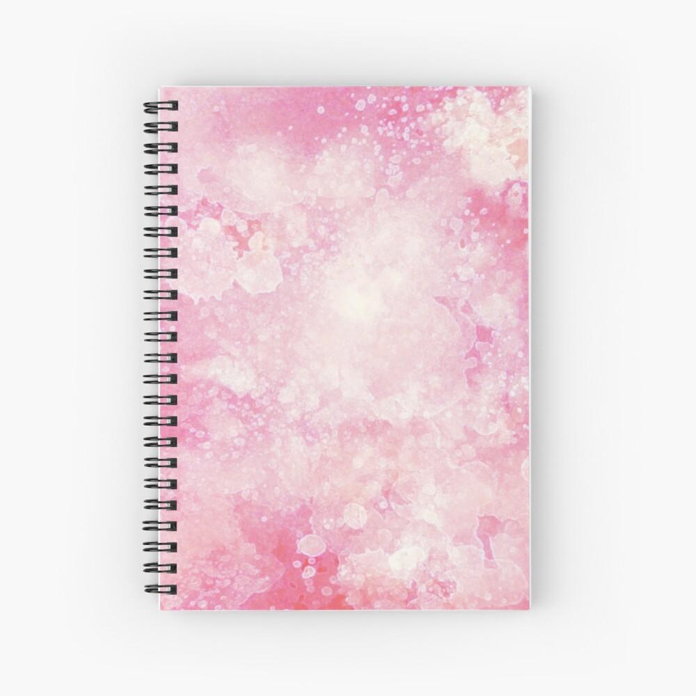 Pink watercolor splatters Spiral Notebook