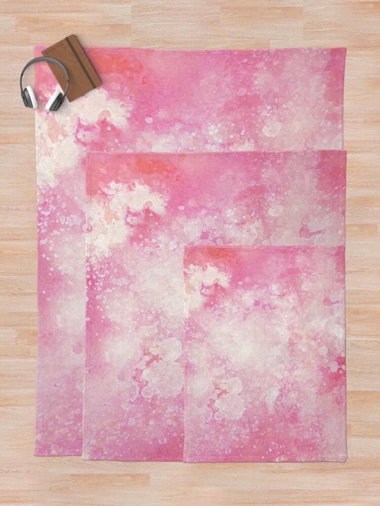 Alternate view of Pink watercolor splatters Throw Blanket