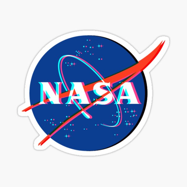 NASA Logo 3D Sticker