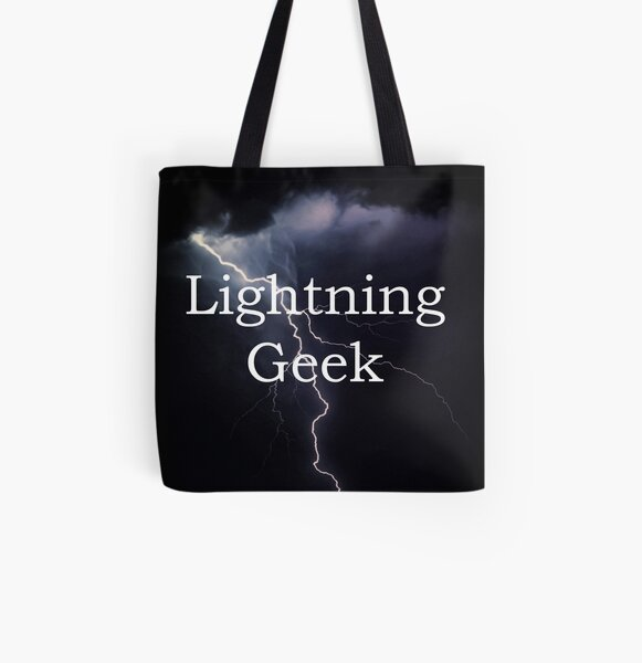 Lightning Geek All Over Print Tote Bag