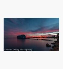 crawley bay sunset  Photographic Print