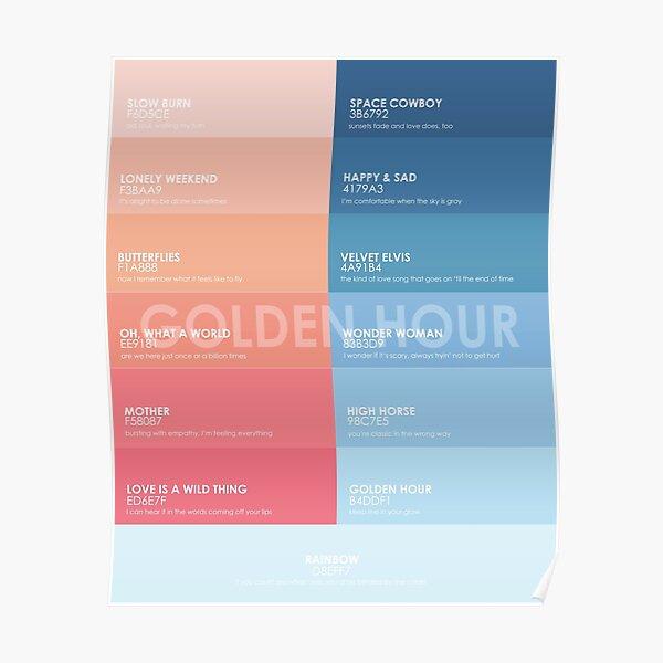 Golden Hour Album Color Palette Poster