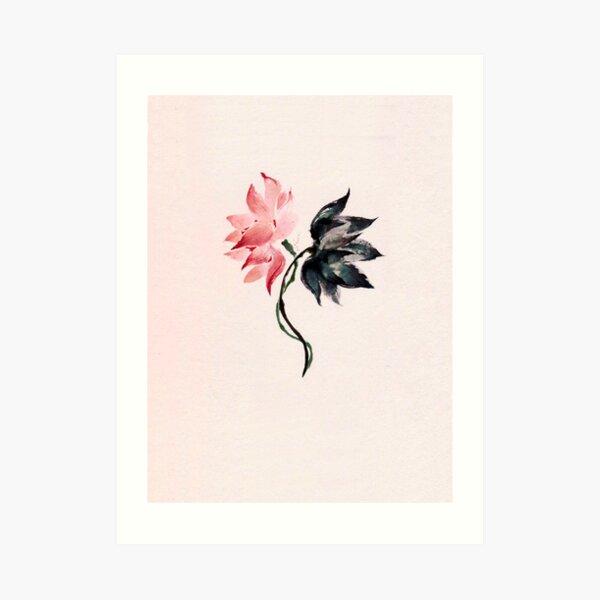 yixing lit 莲 연 lotus concept Art Print