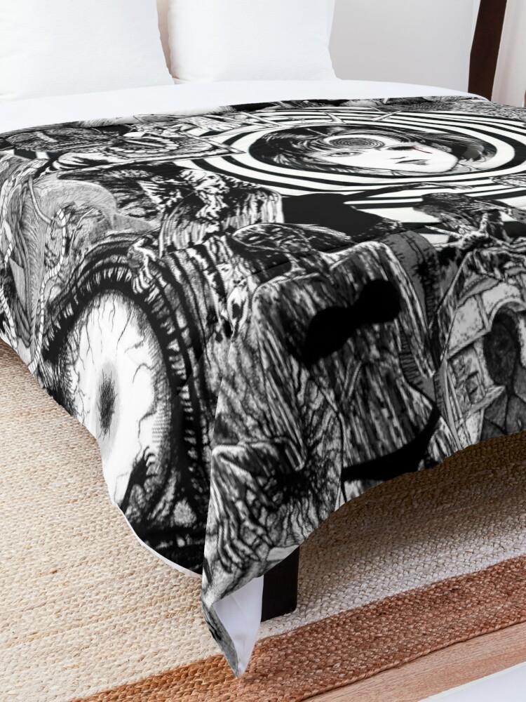 Alternate view of junji ito collage 2  Comforter