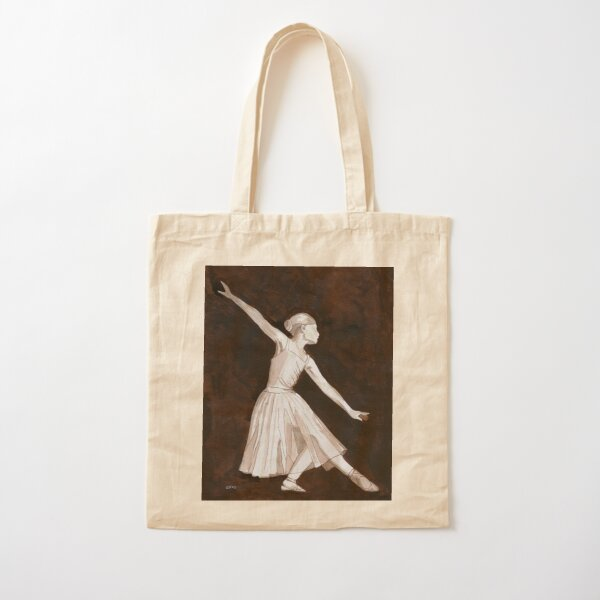 Ballerina, pen and ink.  Cotton Tote Bag