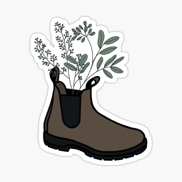 Blundstone with Wildflowers Sticker