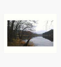 Still Loch Ard, Scotland Art Print