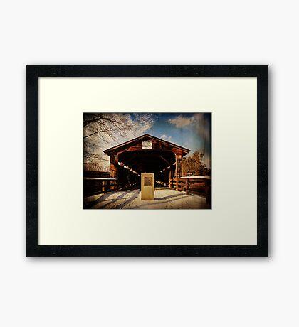 Perrines Covered Bridge Framed Print
