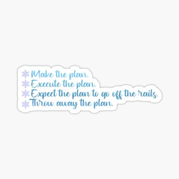 Snart Plan Zitat (The Flash) - GRADIENT Sticker