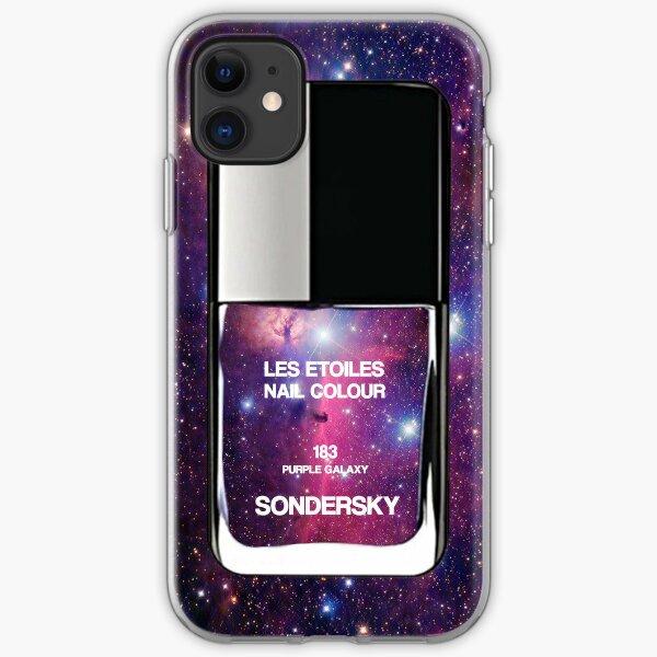 Nail Polish Bottle - Galaxy Purple iPhone Soft Case