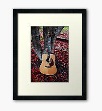 Leaves In The Martin Framed Print