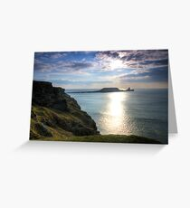 Worms Head, Swansea, Gower Greeting Card