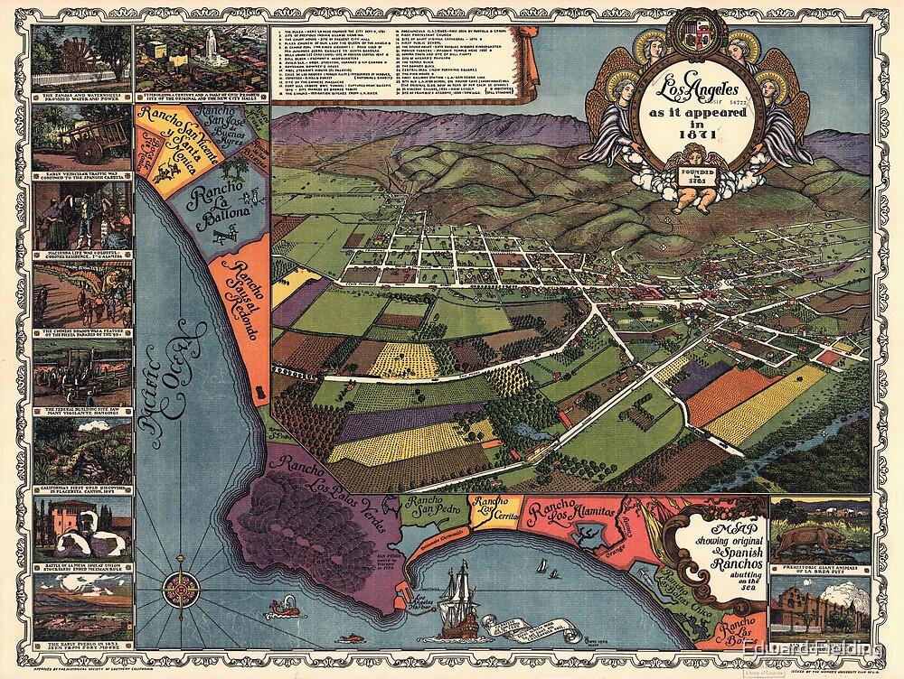 Los Angeles As It Appeared In 1871 by Edward Fielding