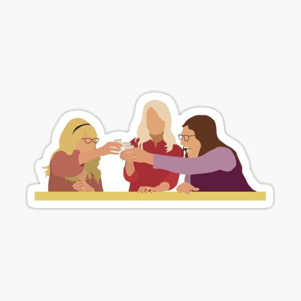 Amy, Bernadette et Penny (Girls Night) - Bachelorette Party Sticker