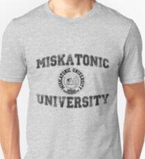 Miskatonic University (Black version) Slim Fit T-Shirt