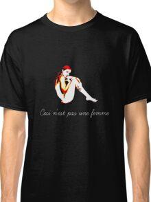 Ceci N'est Pas Une Femme (this is not a woman) Classic T-Shirt