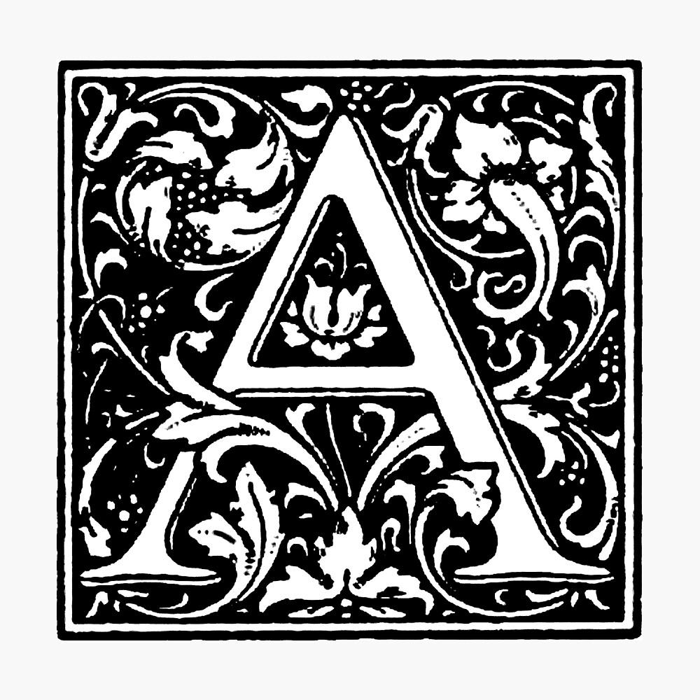 William Morris Renaissance Style Cloister Alphabet Letter A Photographic Print