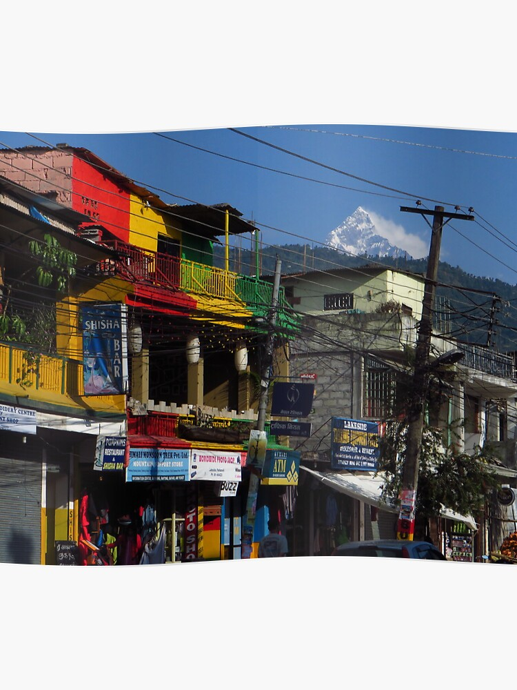 Jamaican Colours, Pokhara, Nepal | Poster