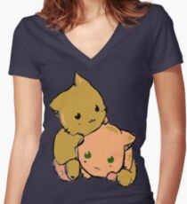 Cute ^^ Women's Fitted V-Neck T-Shirt