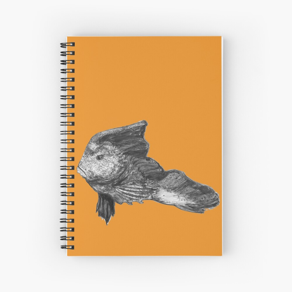 Paulina the Red Indian Fish Spiral Notebook