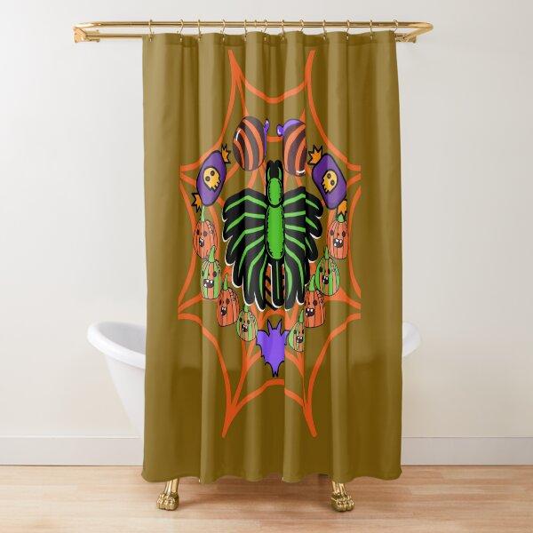 Treat or TrickCrazy Halloween T Shirt Shower Curtain