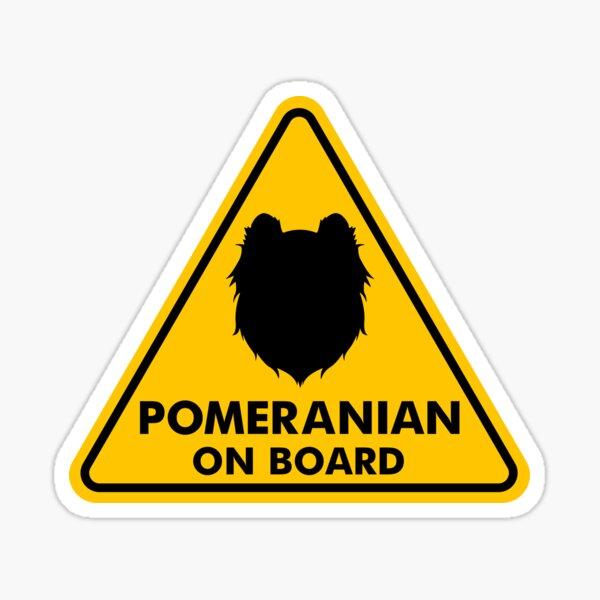 Pomeranian on Board  Sticker